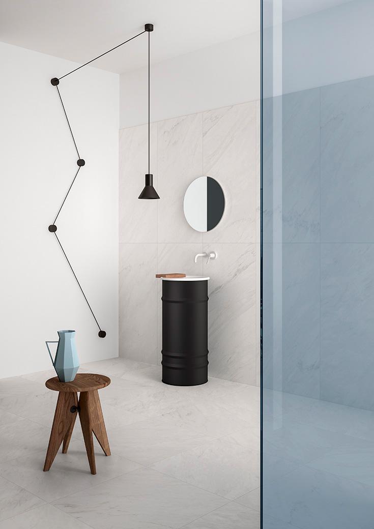 La Salle De Bains En Version Noir Et Blanc Espaces Contemporains