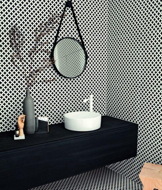la salle de bains en version noir et blanc espaces. Black Bedroom Furniture Sets. Home Design Ideas