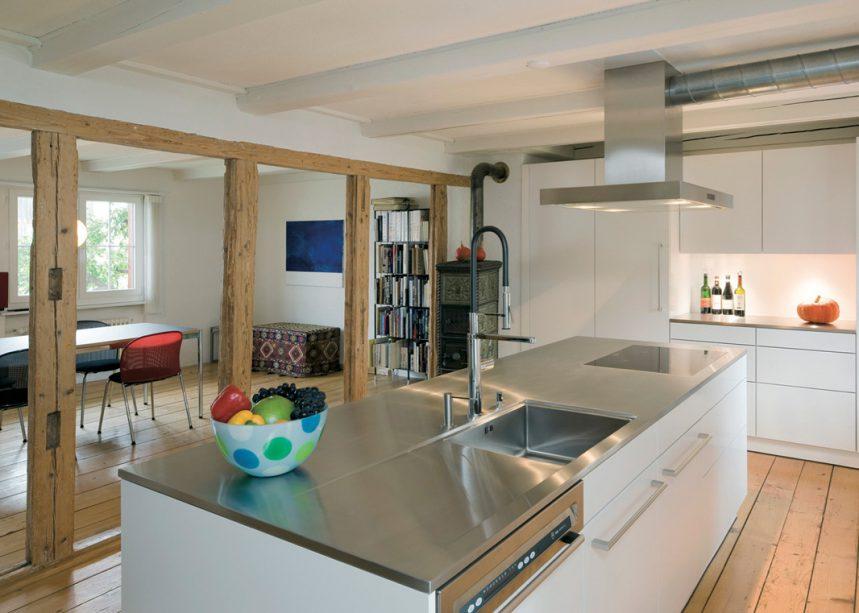 La cuisine semi-ouverte - Espaces Contemporains