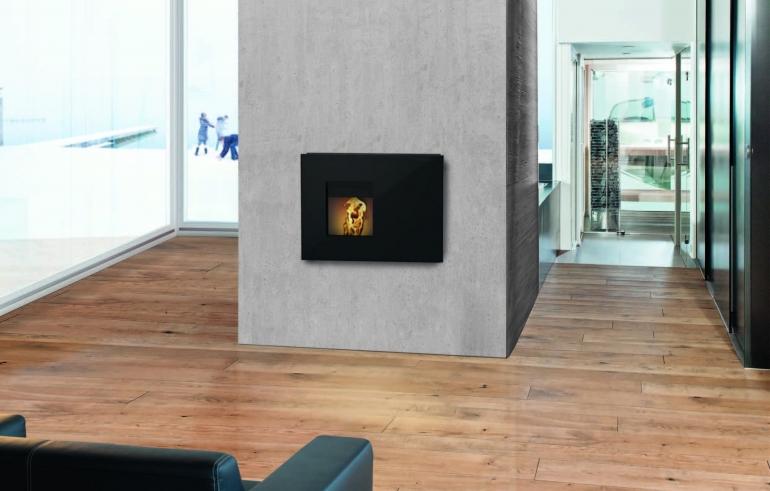 chauffage au bois toutes les solutions espaces contemporains. Black Bedroom Furniture Sets. Home Design Ideas