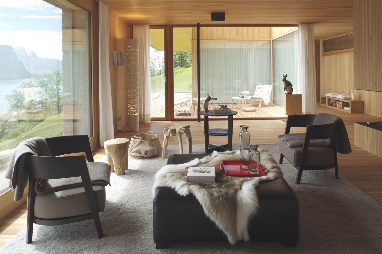 Chalet moderne et contemporain, style cocon cosy