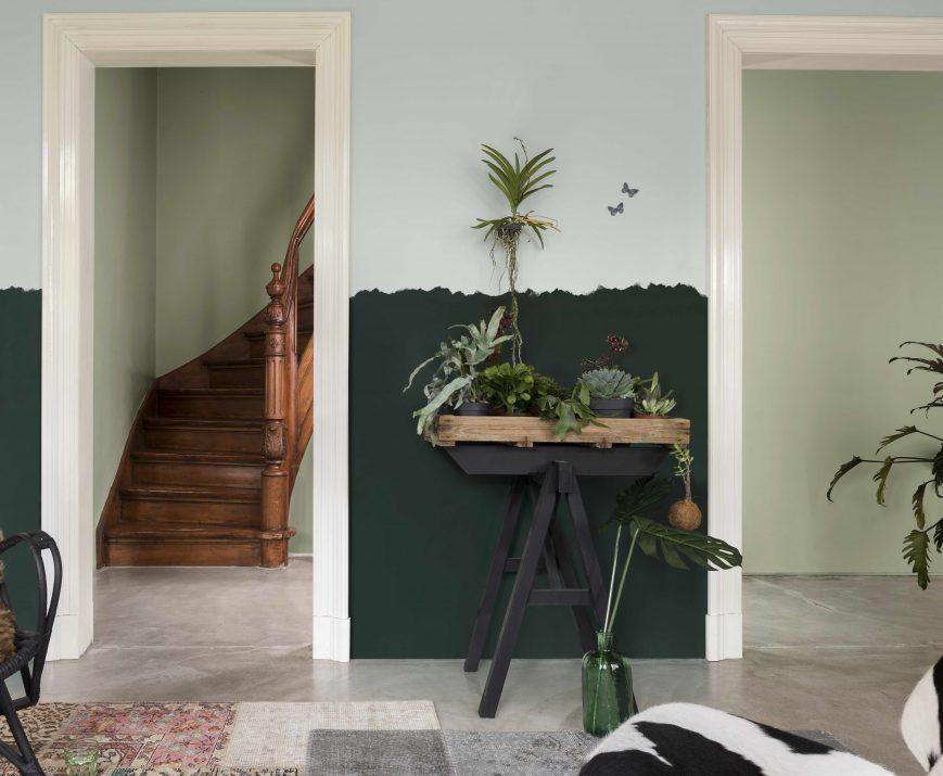 Un mur graphique en peinture décorative