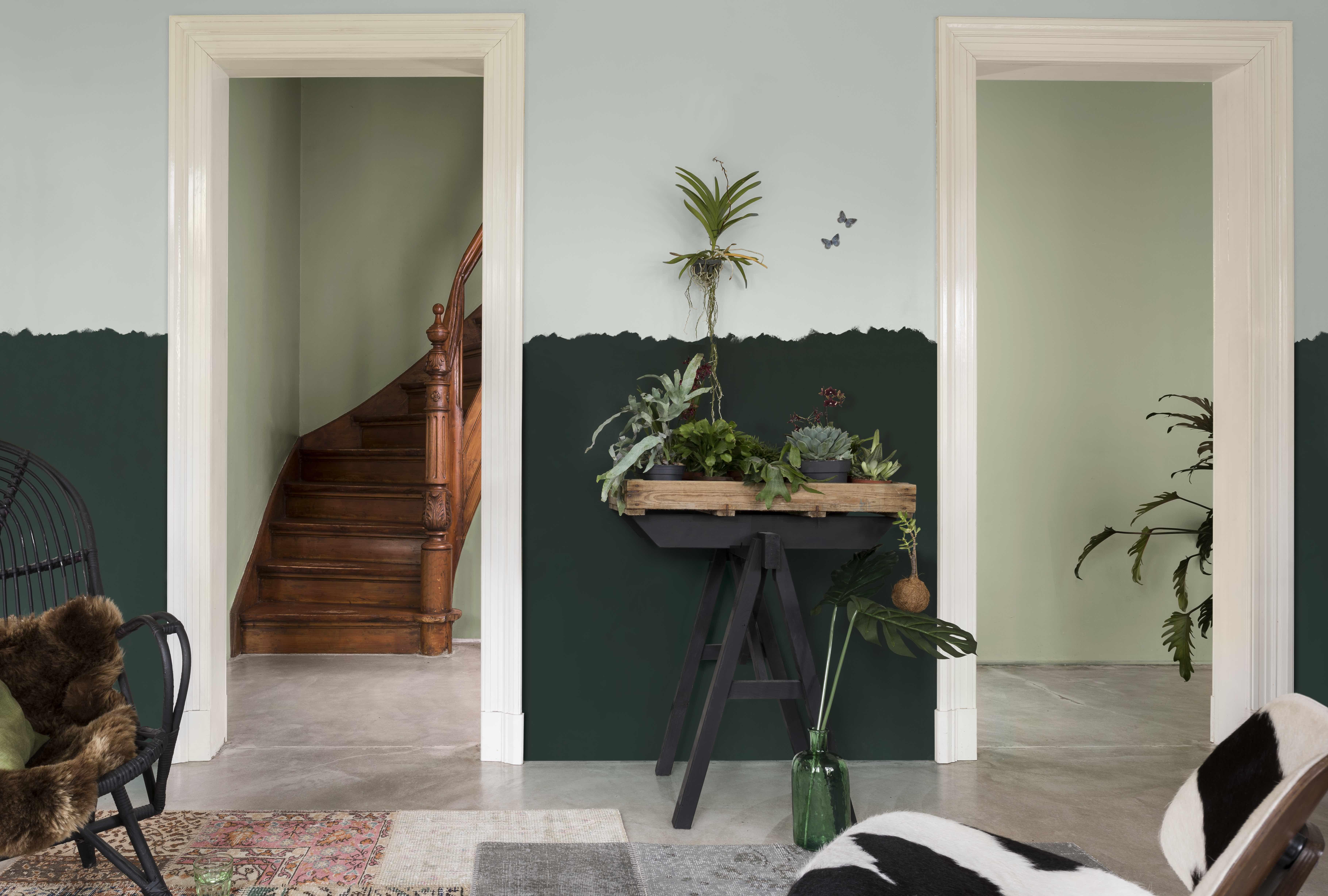 Comment Bien Peindre Un Mur En Blanc peinture décorative: habiller ses murs d'un motifs