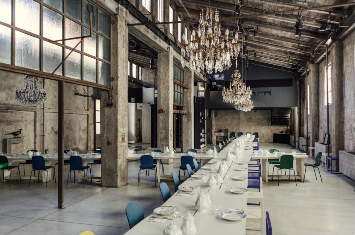 Carlo e Camilla in Segheria. Restaurants et bars design Milan