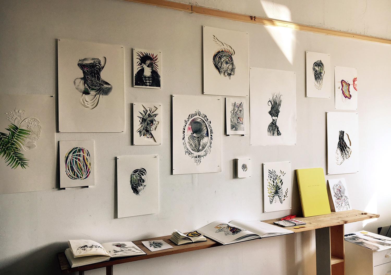 Vue de l'atelier de Atelier Barbara Cardinale