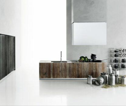 cuisine en bois design Aprile Boffi