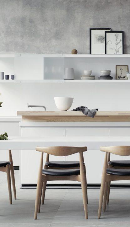 Bar de cuisine, plan snack, table à manger, îlot dans une cuisine design