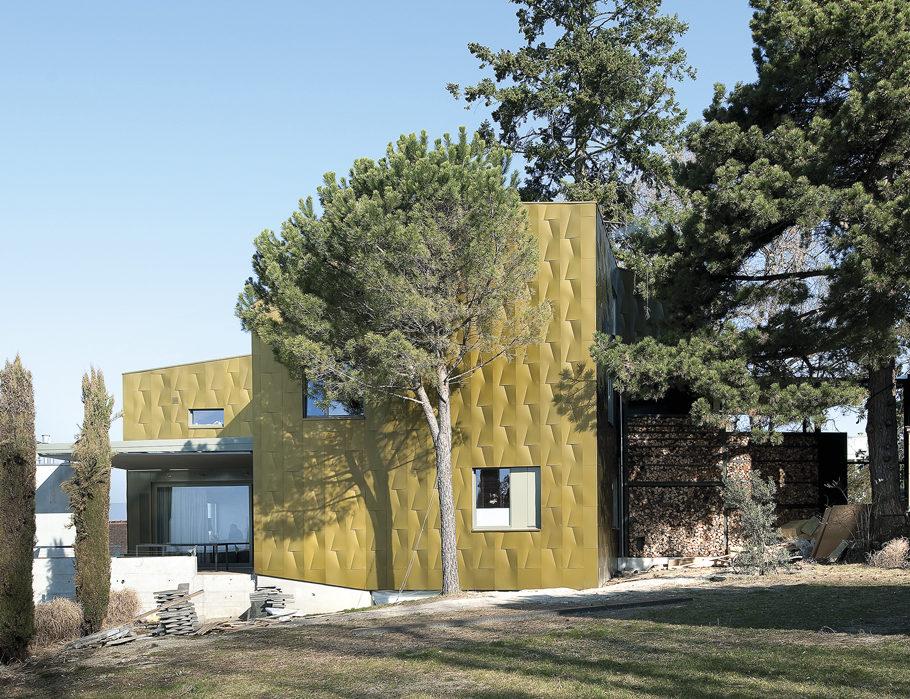 Matériaux de façades, Maisons suisses façade métal
