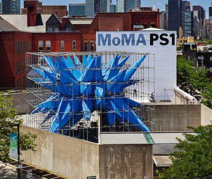 Le pavillon temporaire Wendy, dessiné par Marc Kushner, utilise un tissu neutralisant les polluants dans l'air
