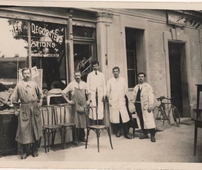 Maison Viquerat. centième anniversaire. showroom de décoration à Clarens près de Montreux. Photo d'archive