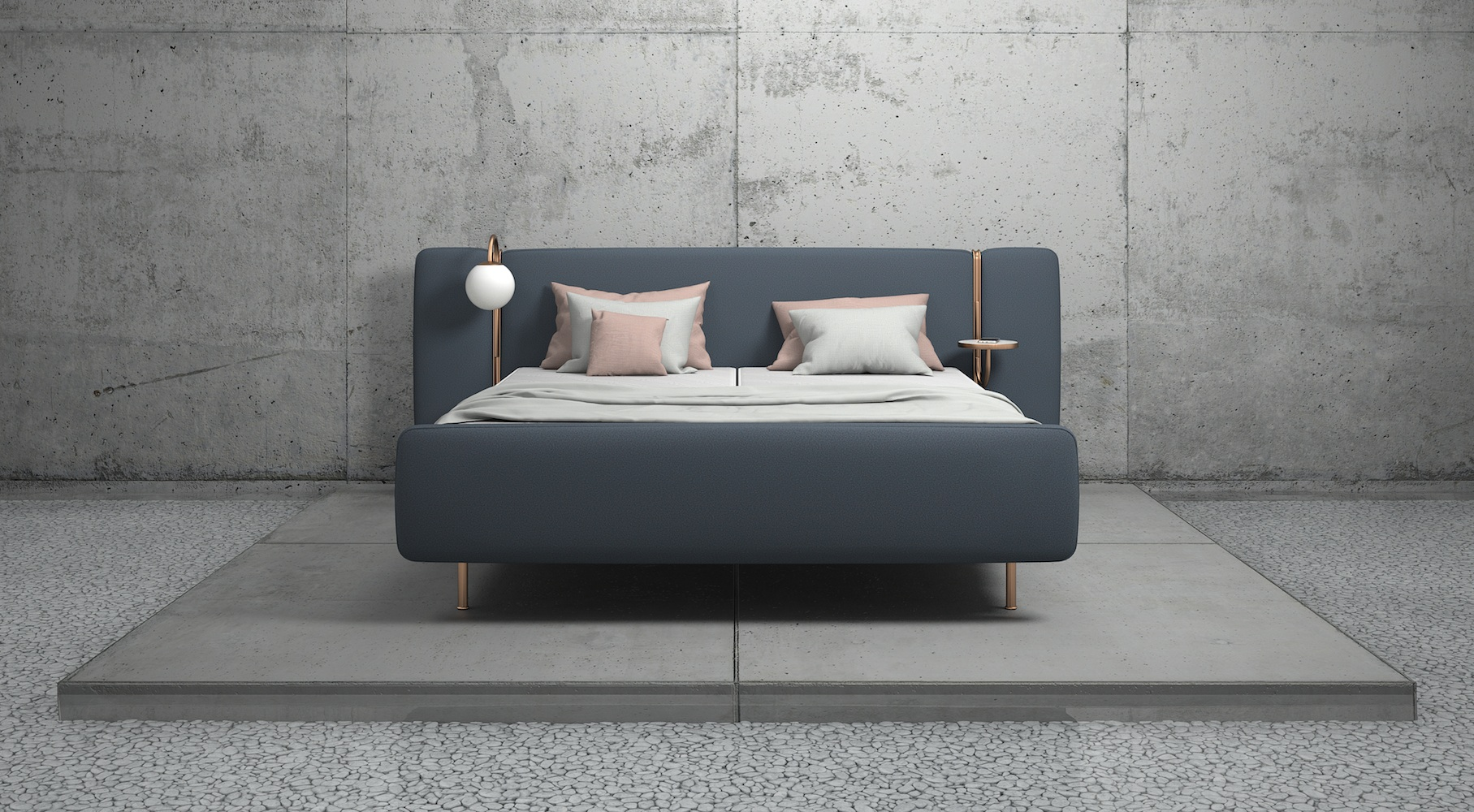 Tête de lit. Lit en tissu. Lit design. Elite beds