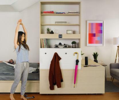 Meuble flexible pour aménager un petit espace