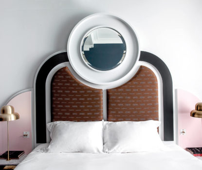 Tête de lit originale sur mesure créé par un designer décorateur