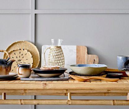 Vaisselle en grès, terre cuite, porcelaine style artisanal et néo-rustique