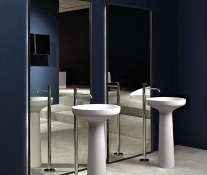 Solution d'agencement. Partager la salle de bains. Exemple avec deux lavabos.