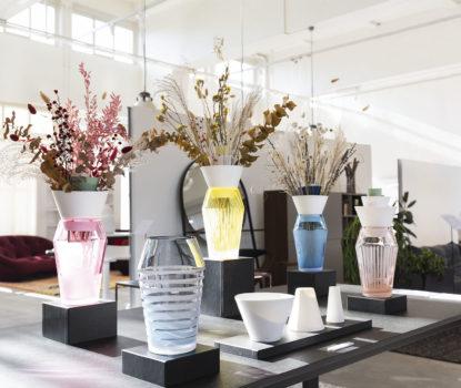 Vases Flottants, Renaud de Francesco chez Ligneroset. Design Days Lausanne 2020