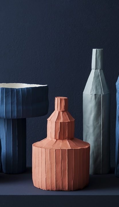 Vase en céramique contemporain