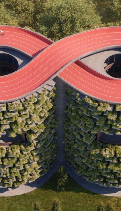 Architecture écologique innovante : piste cyclable