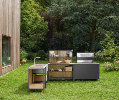 Cuisine d'extérieur haut de gamme, moderne et design.